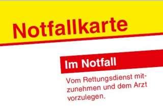 [Celle, Lokal] gratis Notfallkarte & Aufkleber v. ASB