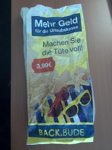 Backbude volle Tüte 3,99 €