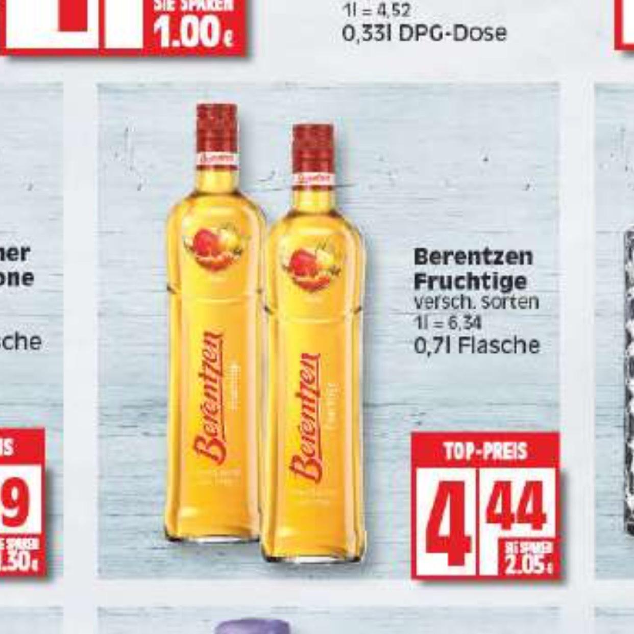 [EDEKA bis 10.2.] Berentzen Fruchtige 0,7l Flasche
