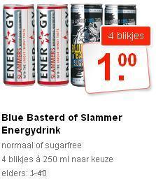 """4 Dosen """"Slammers"""" Energy Drink (à 250 ml) für 1 €   @COOP in NL"""