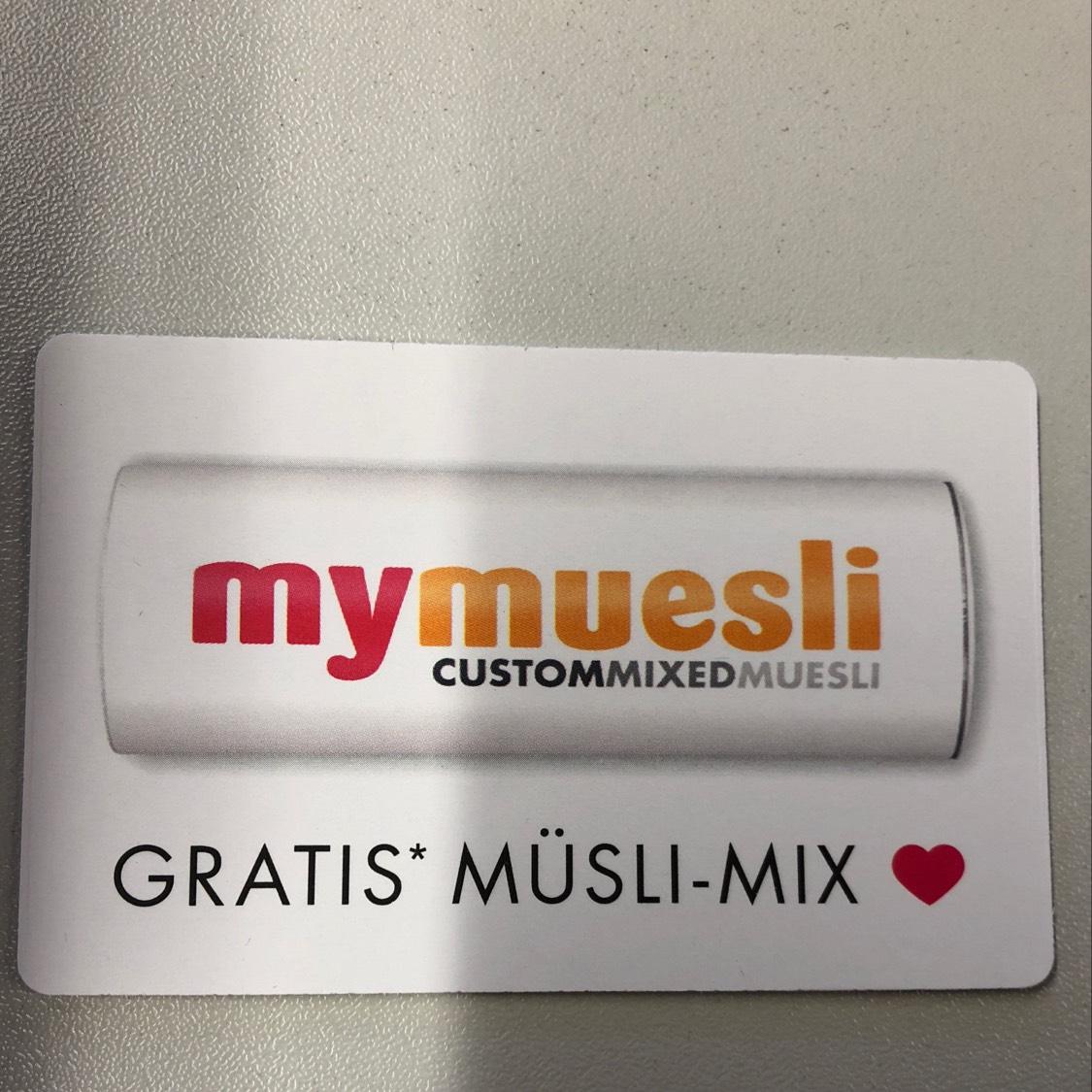 Gratis (Max 10€) MÜSLI-MIX mymuesli