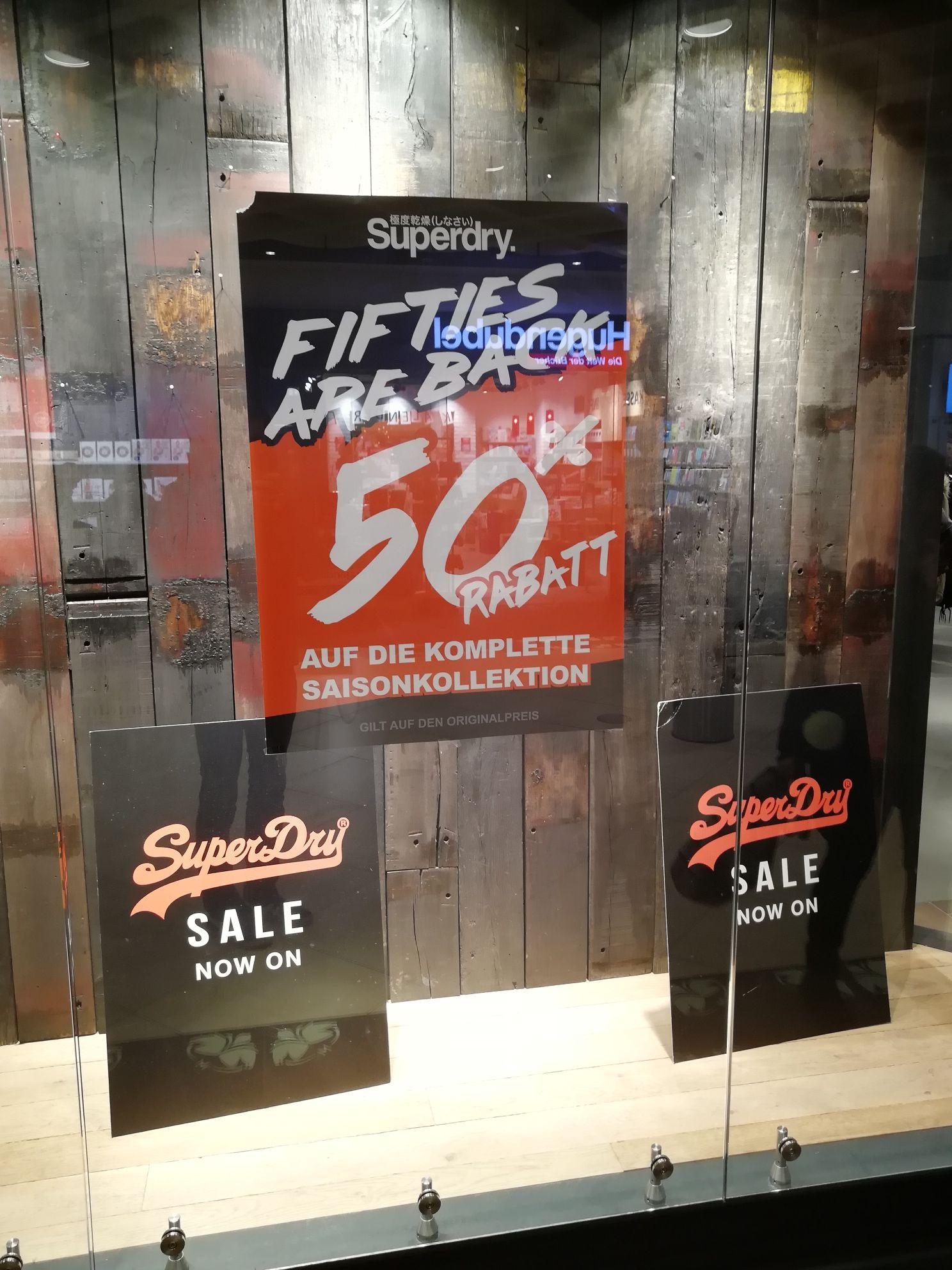 Superdry-Store 50% Sale +20% ab 2 Artikel [lokal Ludwigsburg]