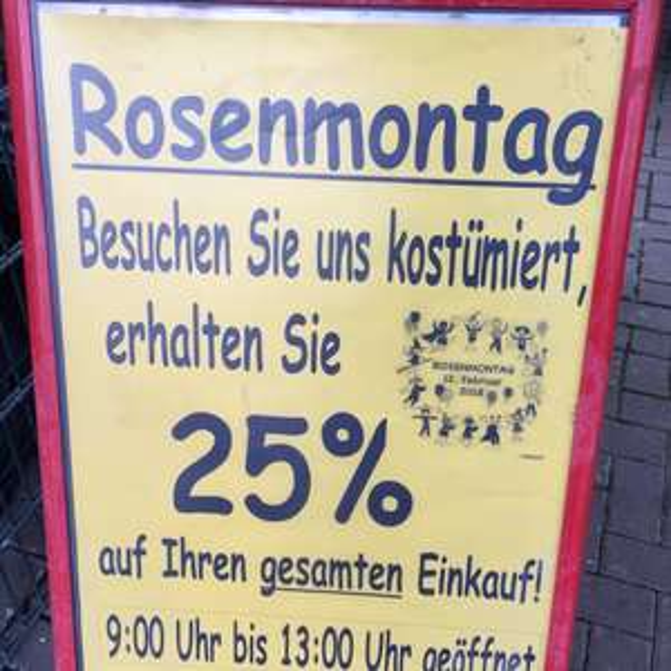 [LOKAL Beverungen] Gartencenter Ringk: Rosenmontag 25% auf alles.