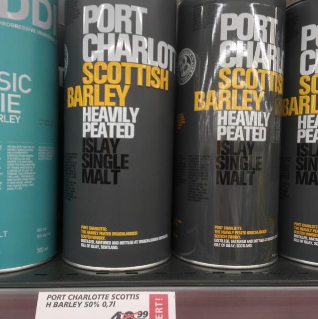 Port Charlotte - Scottish Barley; Whisky; Real Herten; Lokal 40 Stück;
