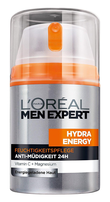 L'Oréal Men Expert Hydra Energy Feuchtigkeitspflege für Männer für 3,75€ - 4,48€ (1x 50 ml) [Amazon Spar-Abo 5%]