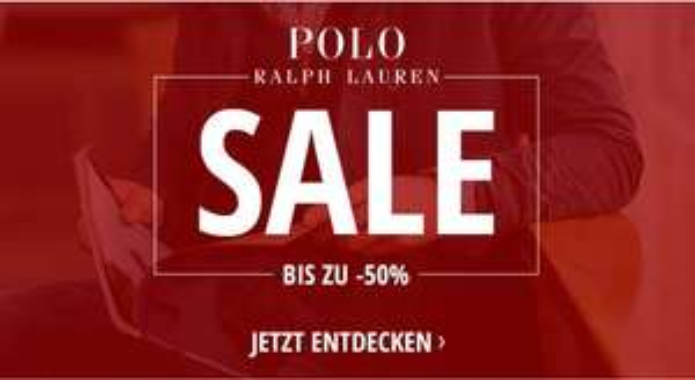 Sale bei Ralph Lauren: Bis zu 50% Rabatt + 10,-€ Newslettergutschein!