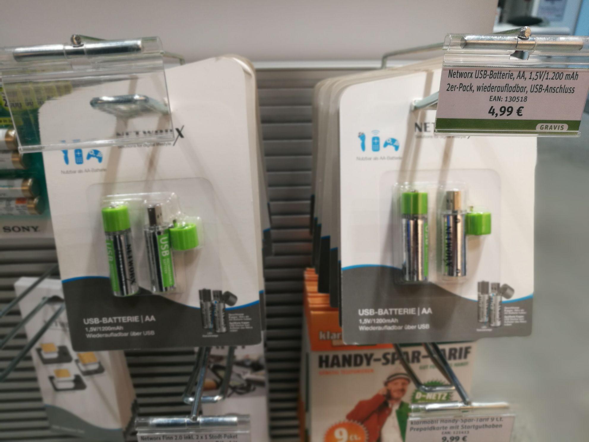 Networx USB-Batterien (Gravis)