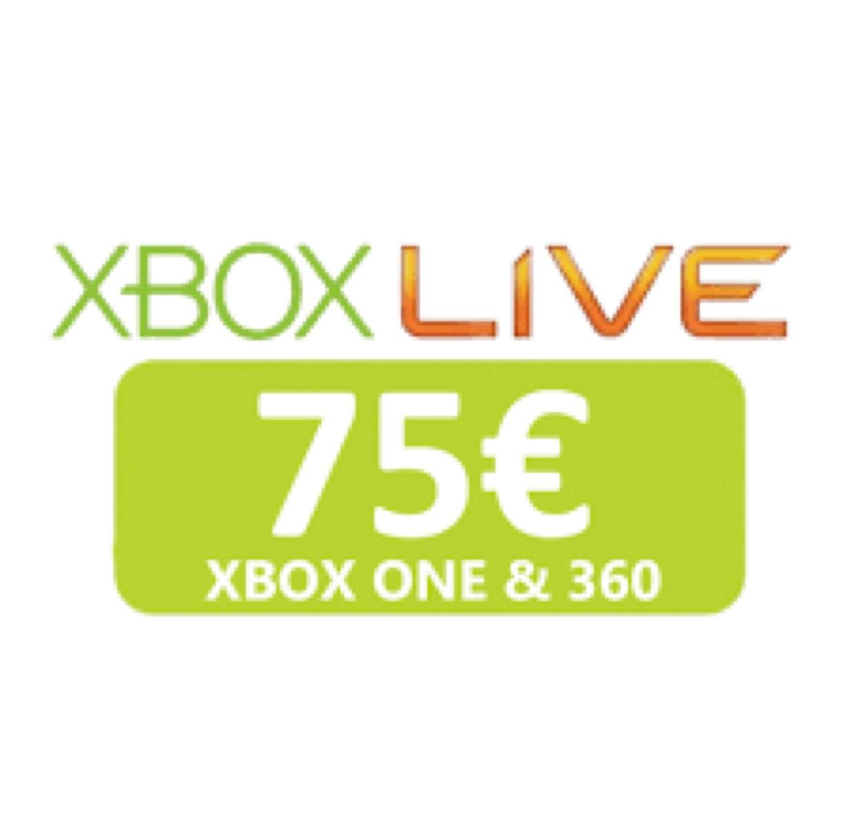 XBOX LIVE 75€ für 51,90€ - Europa