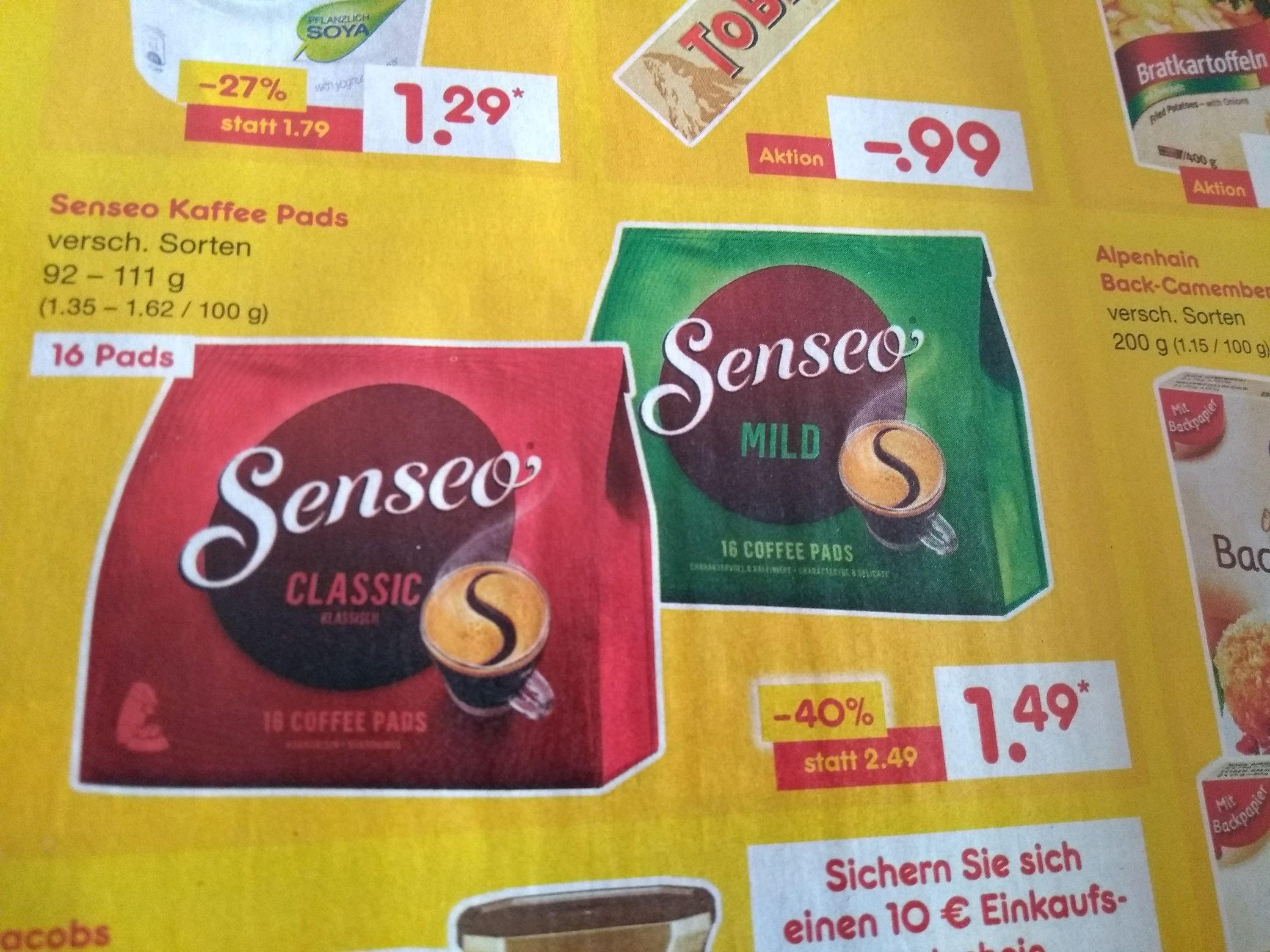[Netto MD] Senseo Kaffeepads verschiedene Sorten ab 15.02.18