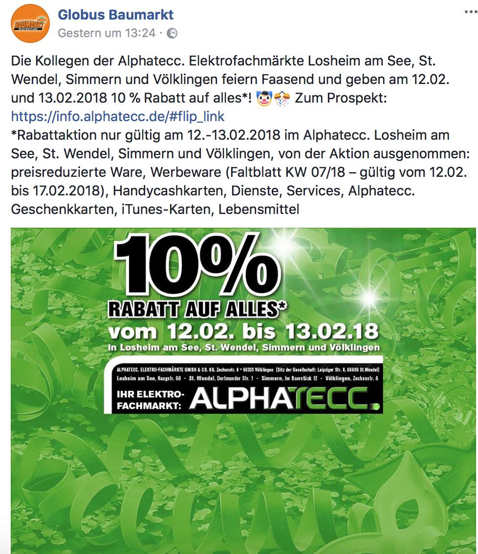 10% auf fast ALLES bei ALPHATECC (LOKAL)