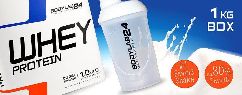30% Rabatt auf Whey Box 1kg und 2kg bei Bodylab24/10,49€ pro KG!!