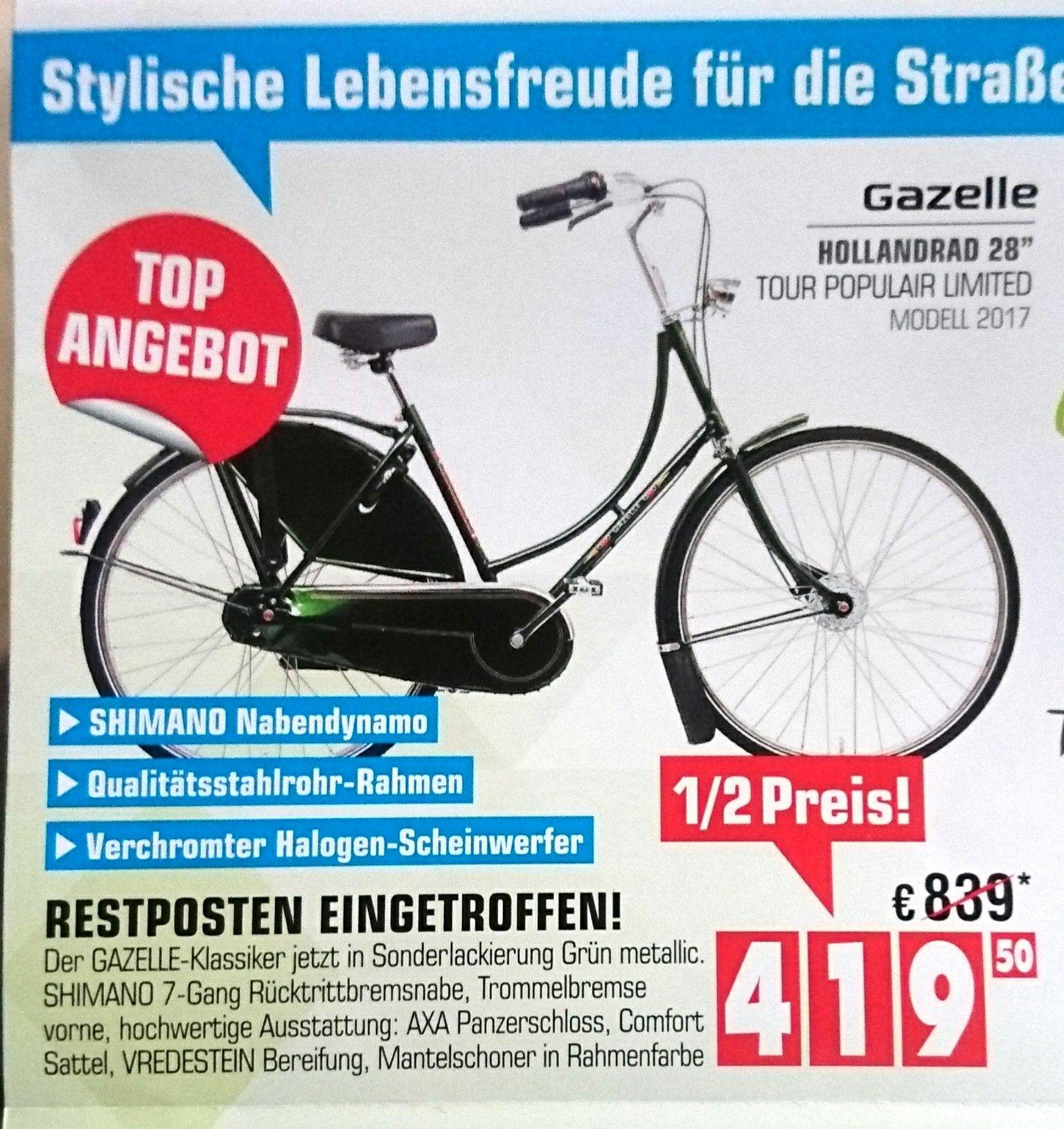 Hollandrad Gazelle Tour Populair Limited 7-Gang Damenrad Fahrrad incl. 2 Geschenke