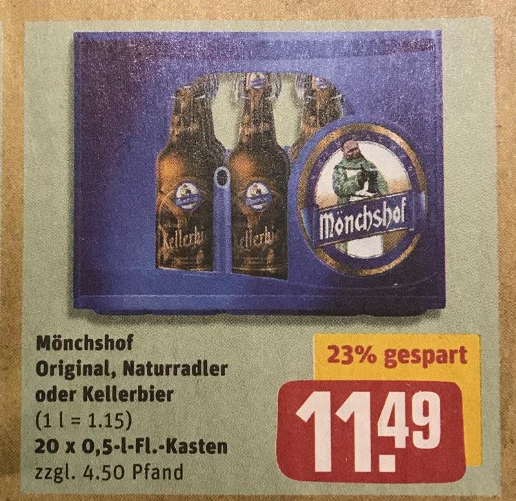 Mönchshof Original, Naturradler oder Kellerbier (Rewe)