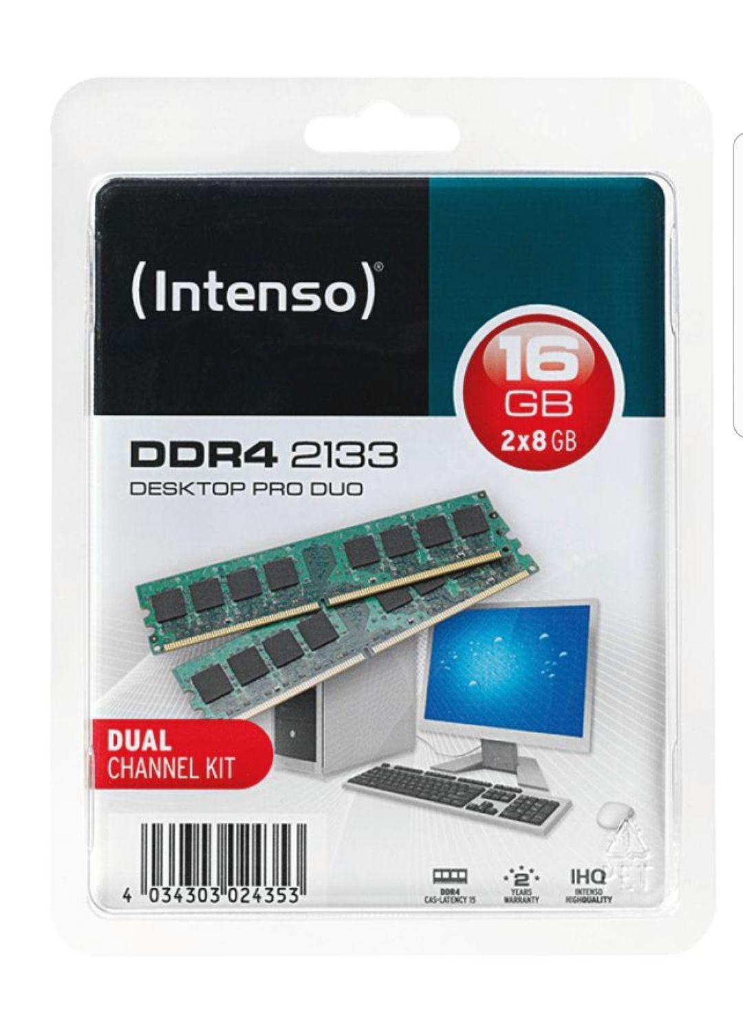 [LOKAL Berlin, Leipzig, Frankfurt a.d.O., Hannover, Stendal, Geldern, Kaiserslautern, Bad Nauheim] Intenso Pro Duo 16gb (2×8) DDR4-2133mhz oder Crucial 16gb (2×8) DDR4-2133 DIMM (PC4-17000) --- ONLINE Reservieren und im Markt abholen!