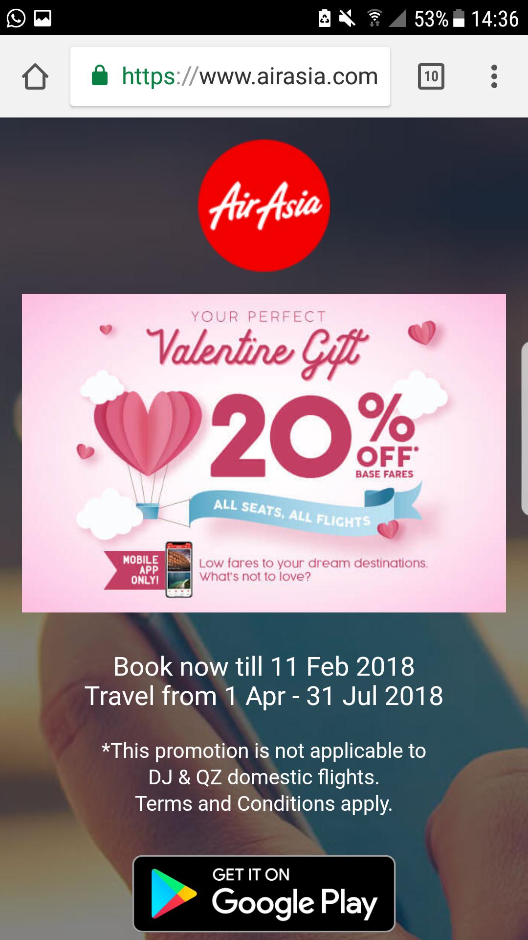 20% bei AirAsia