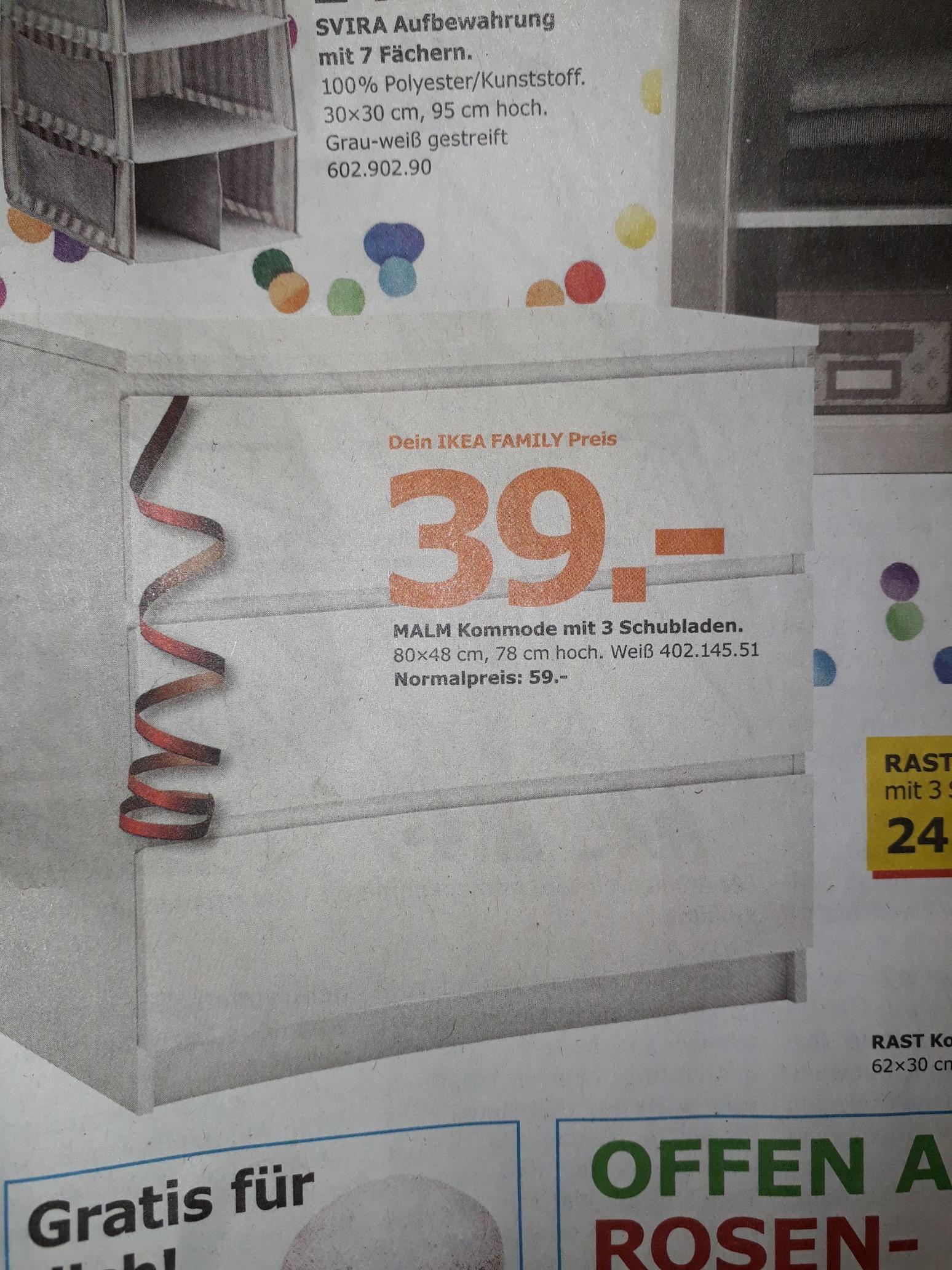 (Lokal IKEA Freiburg) MALM Kommode 3 Schubladen