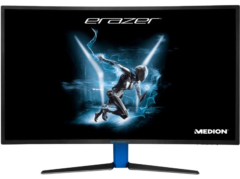 MEDION ERAZER X58426 31.5Zoll Full HD LCD Matt Schwarz Gebogen Computerbildschirm - Computerbildschirme (80 cm (31.5 Zoll), 1920 x 1080 Pixel, LED, 4 ms, 300 cd/m², Schwarz)