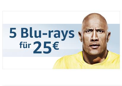 5 Blu-rays für 25 bei Amazon