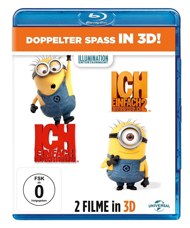 Ich - Einfach unverbesserlich 1&2 (3D Blu-ray + 2D) für 12,97€ (Amazon Prime)