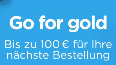 Go for Gold - Angebote mit bis zu 100 € Coupon für die nächste Bestellung - z.B Hisense H55NEC5205 für 494 € + 40 € Coupon oder H65NEC5205 für 799 € + 70 € Coupon @ ao.de