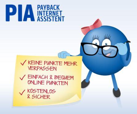 Payback - 200 Punkte (2,00 €) bei PIA (Add-On fürn Browser) kassieren