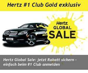 Hertz Global Sale bis zu 33% Rabatt in bis zu 100 Ländern weltweit