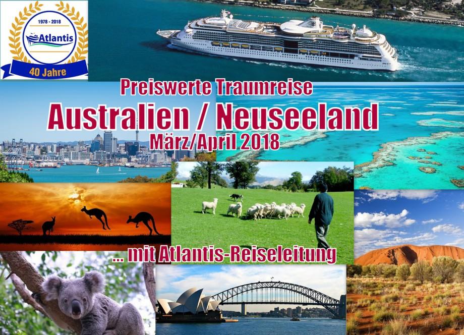 Australien- und Neuseeland-Kreuzfahrt für 699 Euro