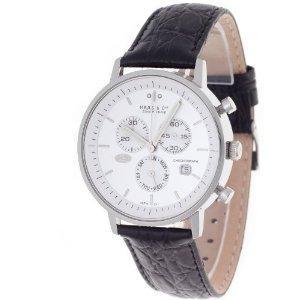 Haas & Cie Herrenuhr Vitesse Chronograph (MFH211ZSA) - weiß, stahl für 49,89€ inkl. Versand