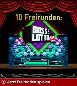 """10€ Freispiele Jaxx.com """"BossLotto"""""""