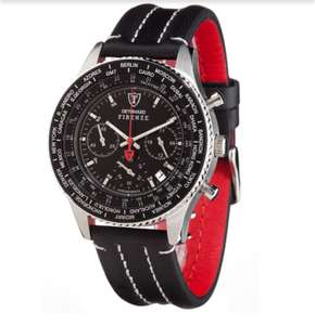 DETOMASO Firenze Chronograph Black Dial Leather - SL1624C-BK [Bild-Shop]