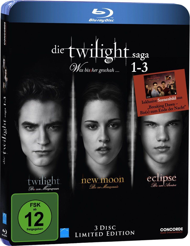 Die Twilight-Saga 1-3 (Blu-ray) Limited Edition für 6,03€ (Dodax)