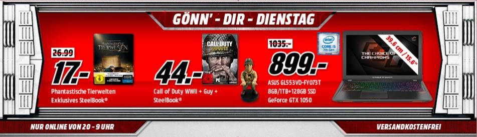 Call of Duty: WWII (PC) + Figur + Steelbook für 44.-€ [GDD MediaMarkt]