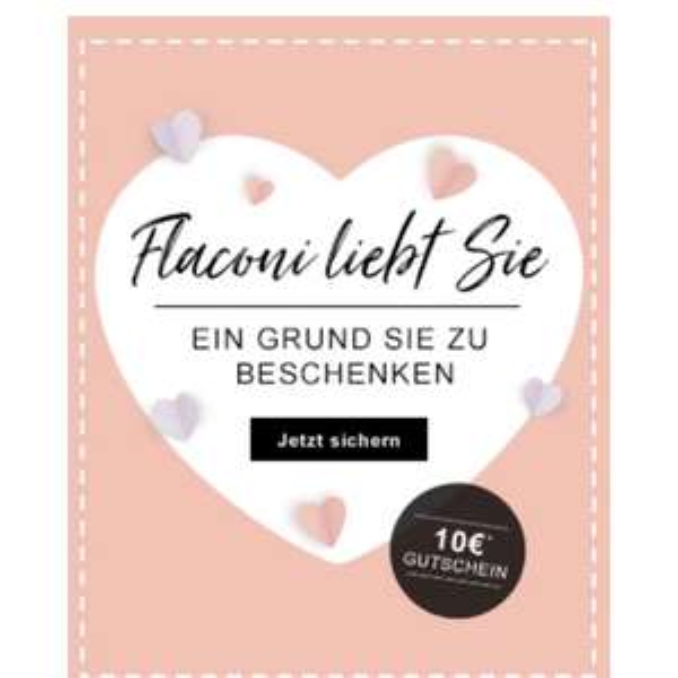 10€ zum Valentinstag ab 65€ MBW bei Flaconi