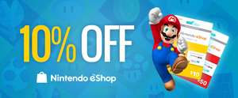 Nintendo eShop Guthaben (US & CA) mit 10% Rabatt (PCGameSupply)