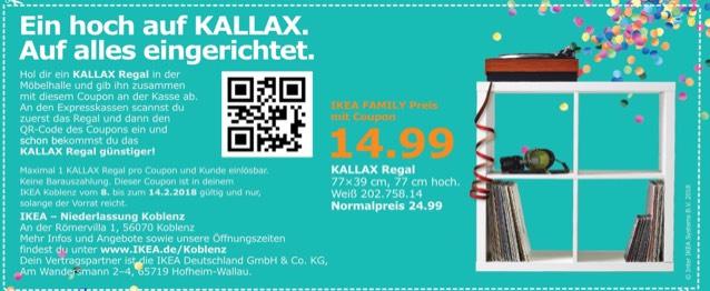 [Lokal Ikea Koblenz] Kallax in weiß 2x2