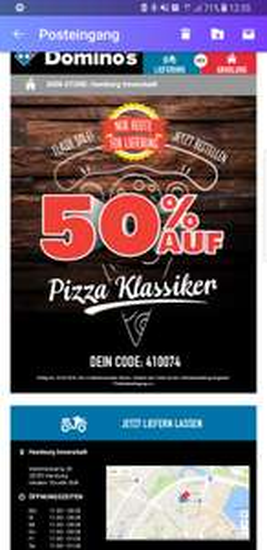 Dominos Pizza Flashsale (Lokal?)