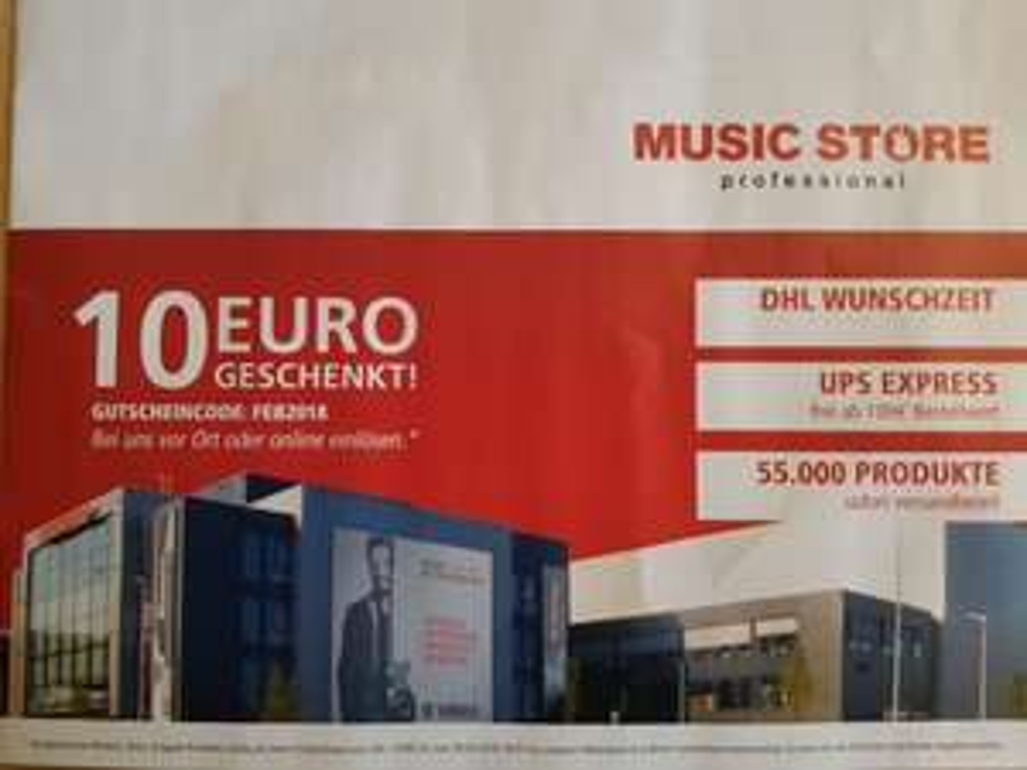 Musicstore 10 Euro Gutschein ab 100 Euro Einkaufswert