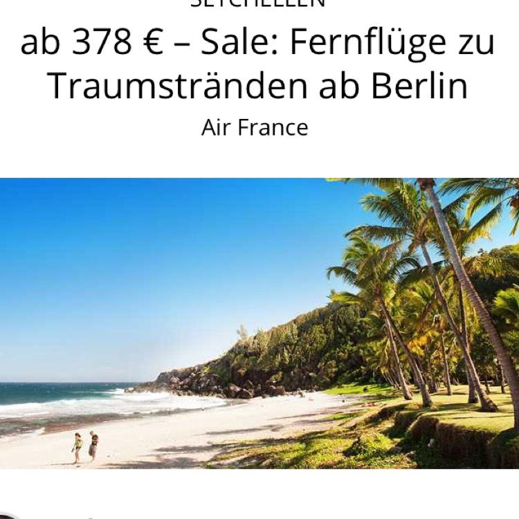 KARIBIK, SÜDAMERIKA, LA RÉUNION UND SEYCHELLEN ab 378 € – Sale: Fernflüge zu Traumstränden ab Berlin Air France