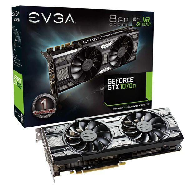 [EVGA] EVGA GeForce GTX 1070 Ti SC GAMING, 08G-P4-5671-KR, 8GB GDDR5, ACX 3.0 & Black Edition