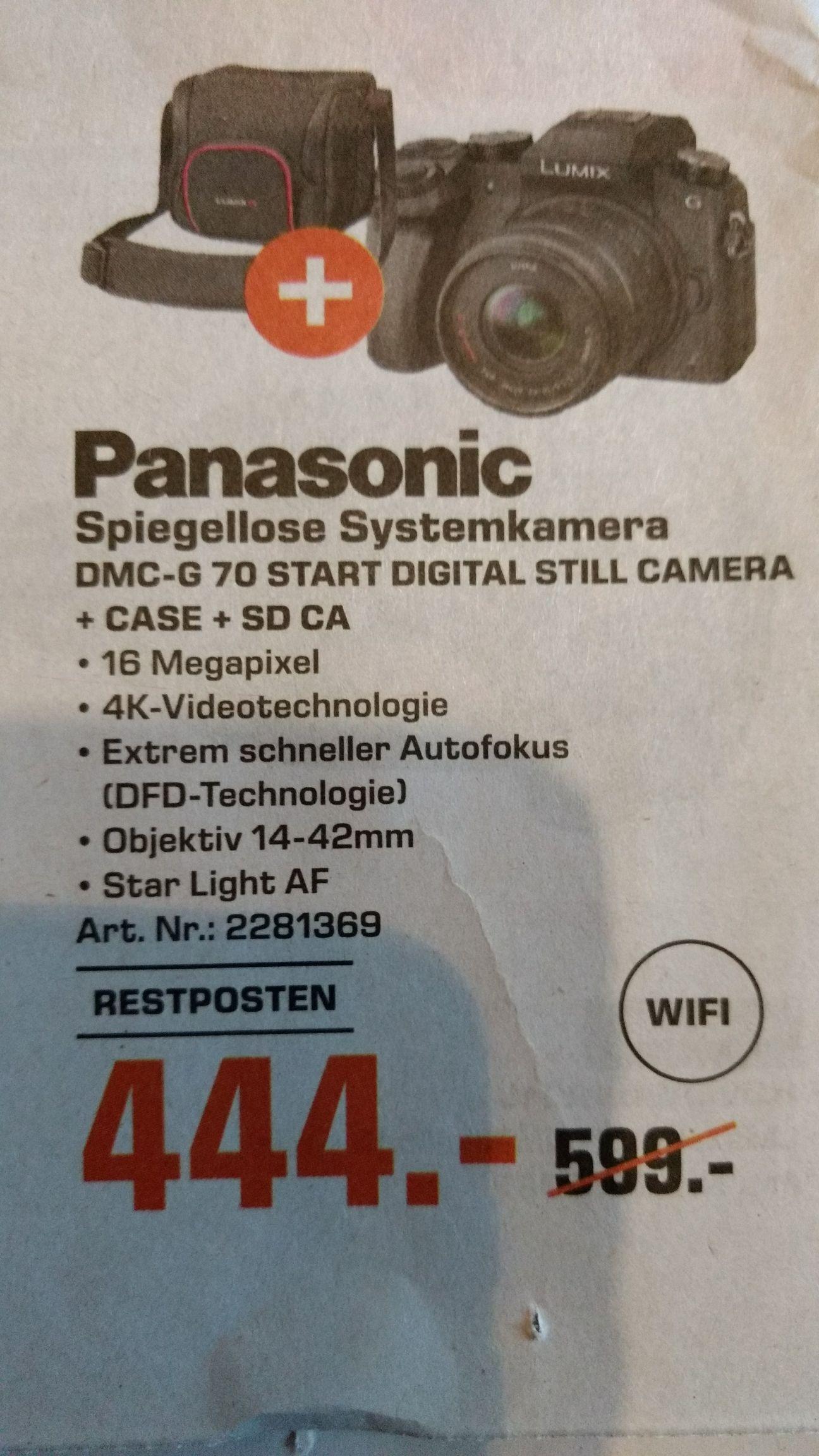 [Lokal - Saturn Bochum] Panasonic DMC-G70 Systemkamera + 14-42 Kit + Tasche