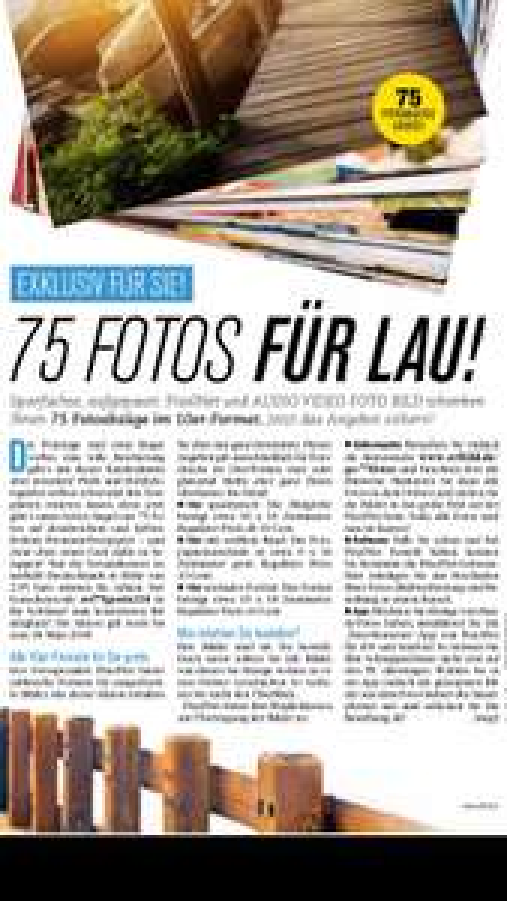 75 Fotos geschenkt (2,95€Versand)
