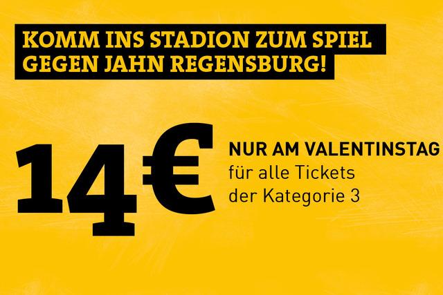 Valentinsaktion Dynamo Dresden: [Teilweise FREEBIE]: Neumitglieder sparen 10 €, Tickets gegen Regensburg 14 statt 22 €