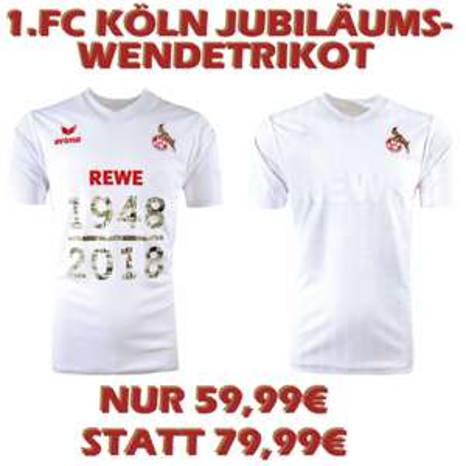 1.FC Köln Jubiläumstrikot 70 Jahre Bundesliga Trikot 2018