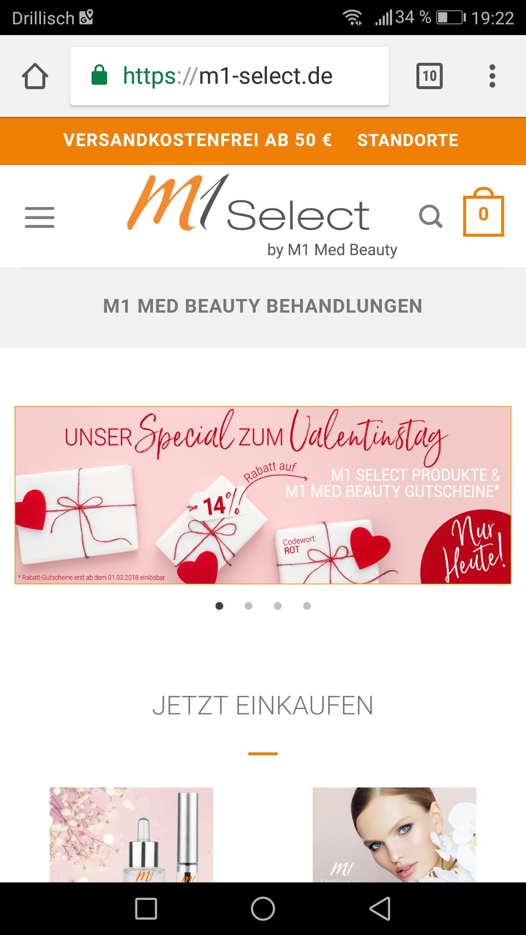 M1 Med Beauty 14% auf Pflegeprodukte und Gutscheine