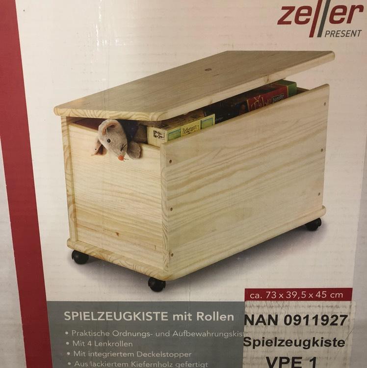 [REWE Center Frankfurt Hessen-Center] Zeller Holz-Spielzeugkiste mit Rollen