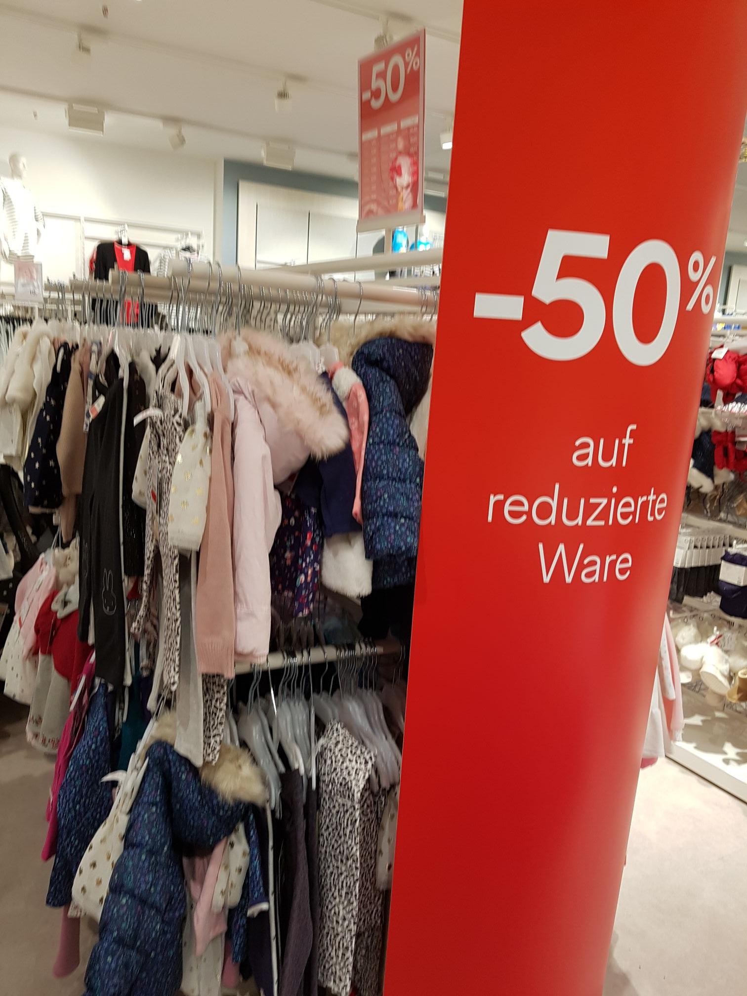 C&A Bundesweit -  50% auf reduzierte Ware (nur vor Ort)