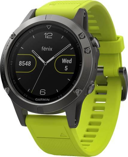 [digitalo.de] Garmin Fenix 5 grau mit gelbem Armband