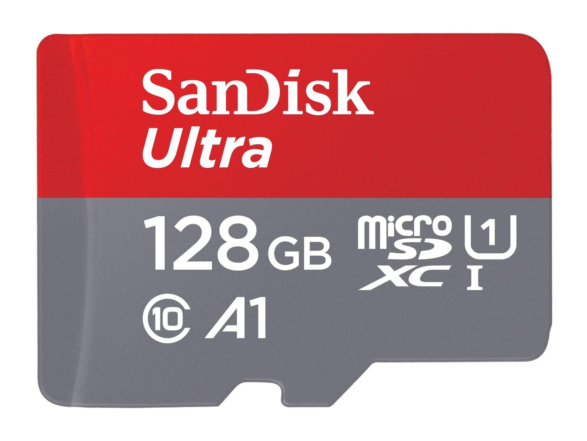SanDisk Ultra microSDXC 128 GB Speicherkarte, Kl. 10, UHS-1, inkl. SD-Adapter bei Gravis
