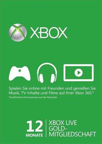 Xbox Live Gold – 12 Monate (Xbox 360/Xbox One/weltweit)