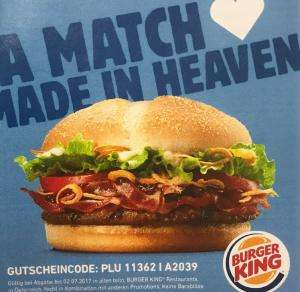 Burger King Gratis Steakhouseburger mit Tinder App